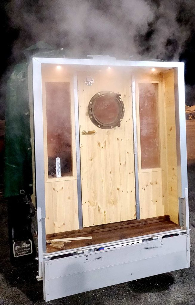 Sauna metal flashings