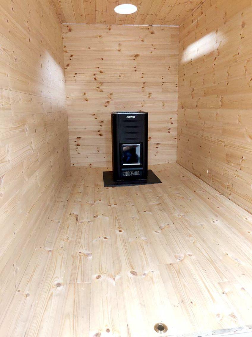 Building a mobile / trailer Sauna